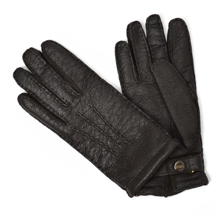DENTS【デンツ】手袋/グローブ 15-1564 Bark Peccary&Cashmere lining(ブラウン ペッカリー&カシミアライニング)