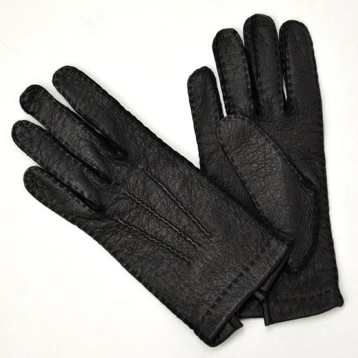 GANTIER CAUSSE【ガンコス/コース】手袋/グローブ H0003 PEC NOIR No lining ブラック ペッカリー