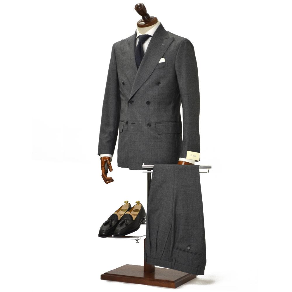 De Petrillo【デ ペトリロ】ダブルスーツ SORRENTO K/C TW18064U/150 ウール グレー