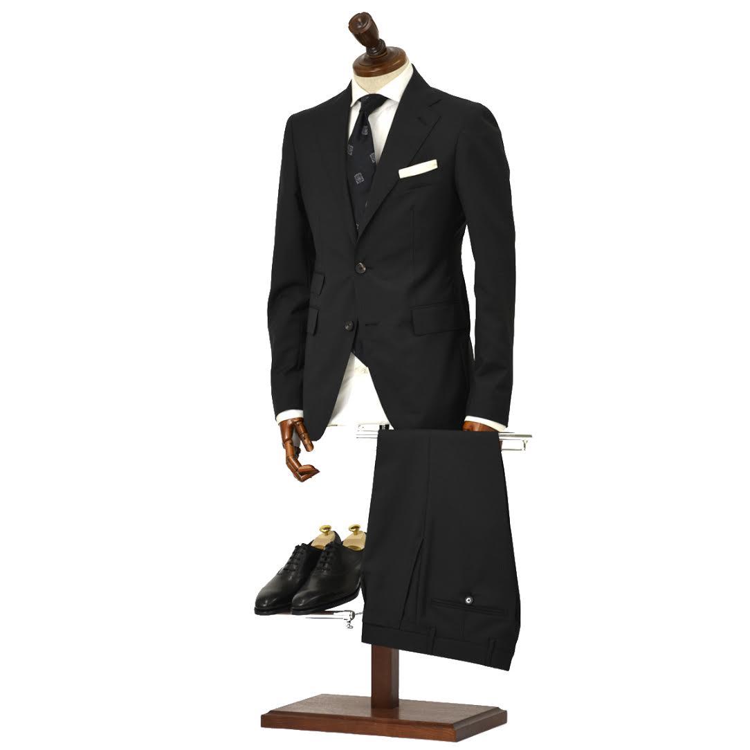 TAGLIATORE【タリアトーレ】シングルスーツ 2SVJ22D11 12UEA240 N3014 ヴェスビオ ヴァージンウール スーパー100'S ピンストライプ ブラック×ホワイト