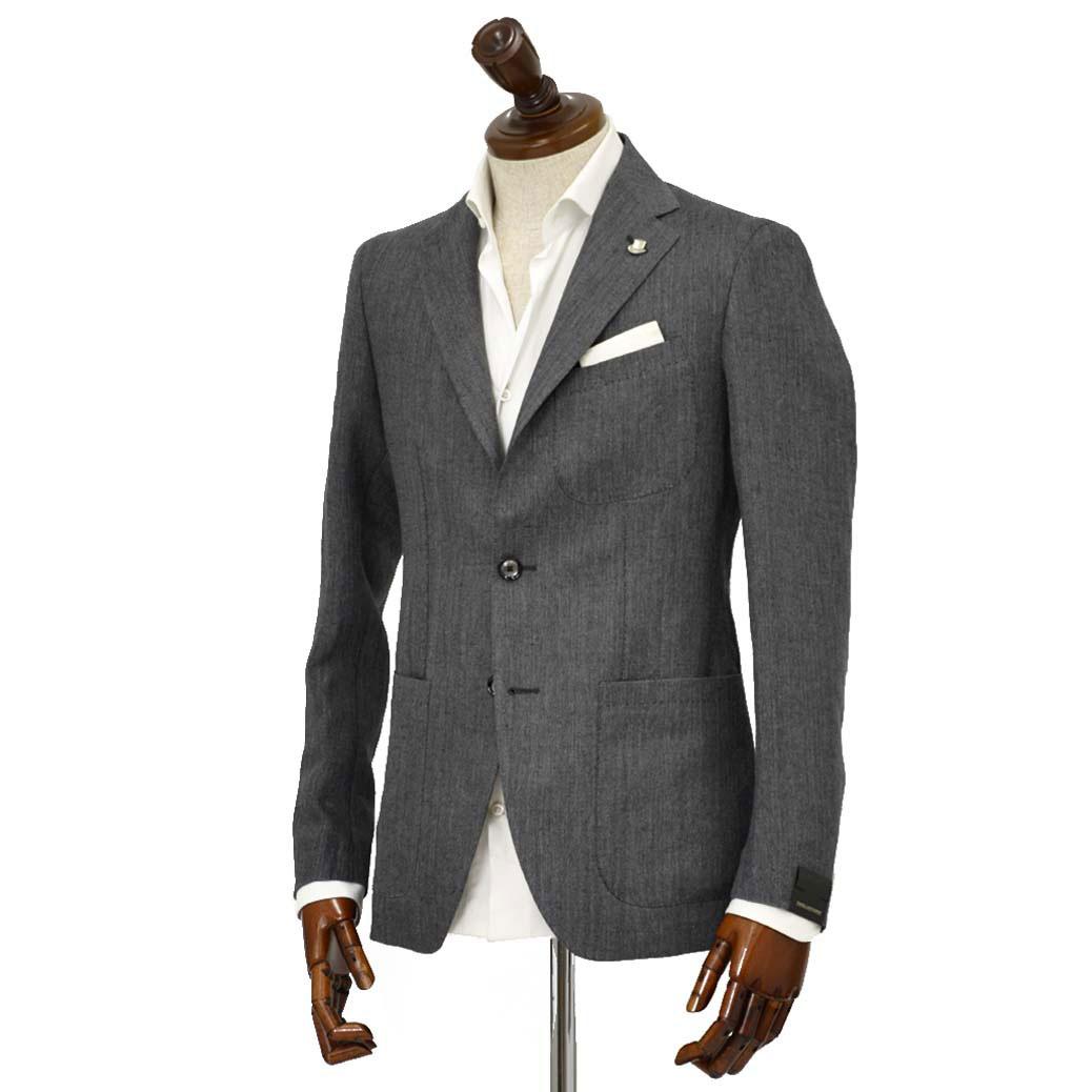 TAGLIATORE【タリアトーレ】シングルジャケット G-SAHARA 12UEG242 G3022 サハラ リネン ヘリンボーン グレー