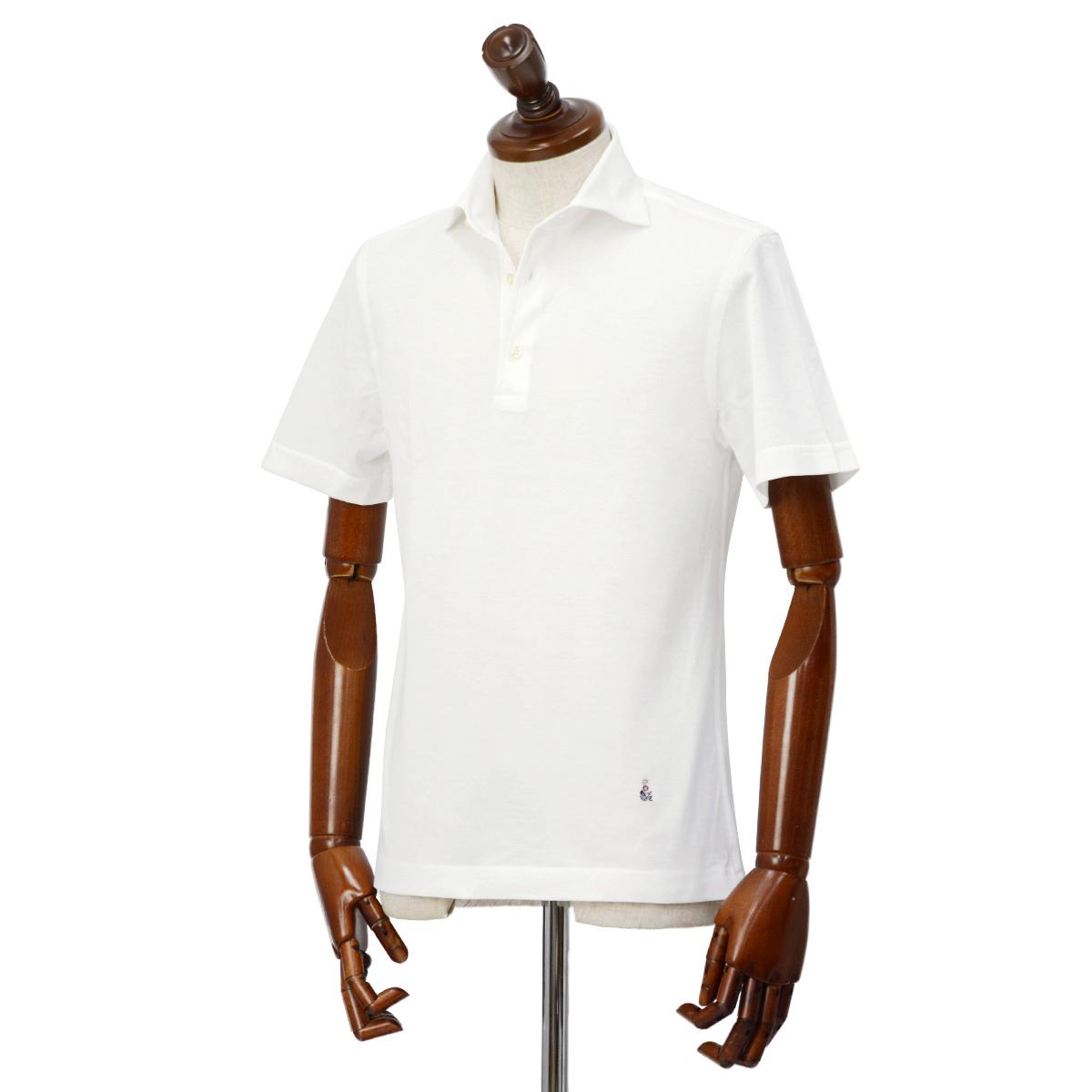 GUY ROVER【ギローバー】 半袖ポロシャツ PC435J 591503 01 鹿の子 ホリゾンタル ホワイト