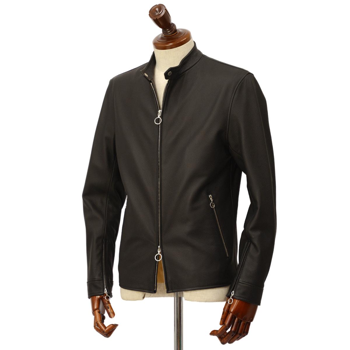 SERAPHIN【セラファン】 シングルライダースジャケット BIKER ANDY 129 00 CERF NOIR ディアスキン ブラック