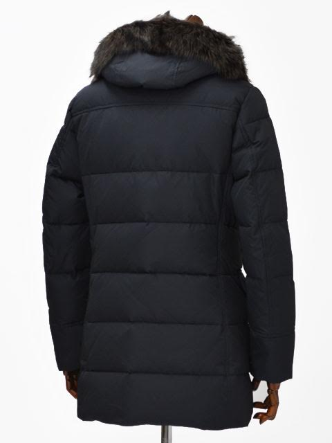 MOORER down coat BARBIERI-KM polyester BLU (Navy Blue polyester)