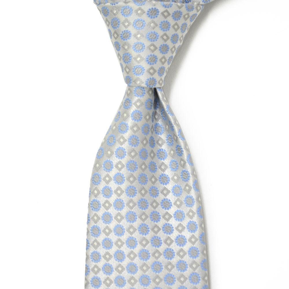STEFANO RICCI【ステファノリッチ】tie4108 ネクタイ シルク 花柄 小紋 ホワイト