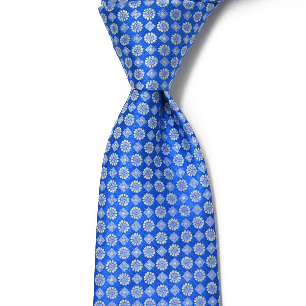 STEFANO RICCI【ステファノリッチ】tie4110 ネクタイ シルク 花柄 小紋 ブルー