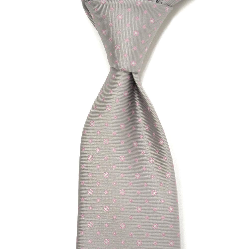 STEFANO RICCI【ステファノリッチ】tie4112 ネクタイ シルク 花柄 小紋 グレー