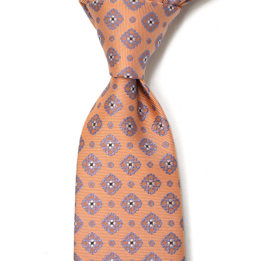 STEFANO RICCI【ステファノリッチ】tie4115 ネクタイ シルク 小紋 オレンジ