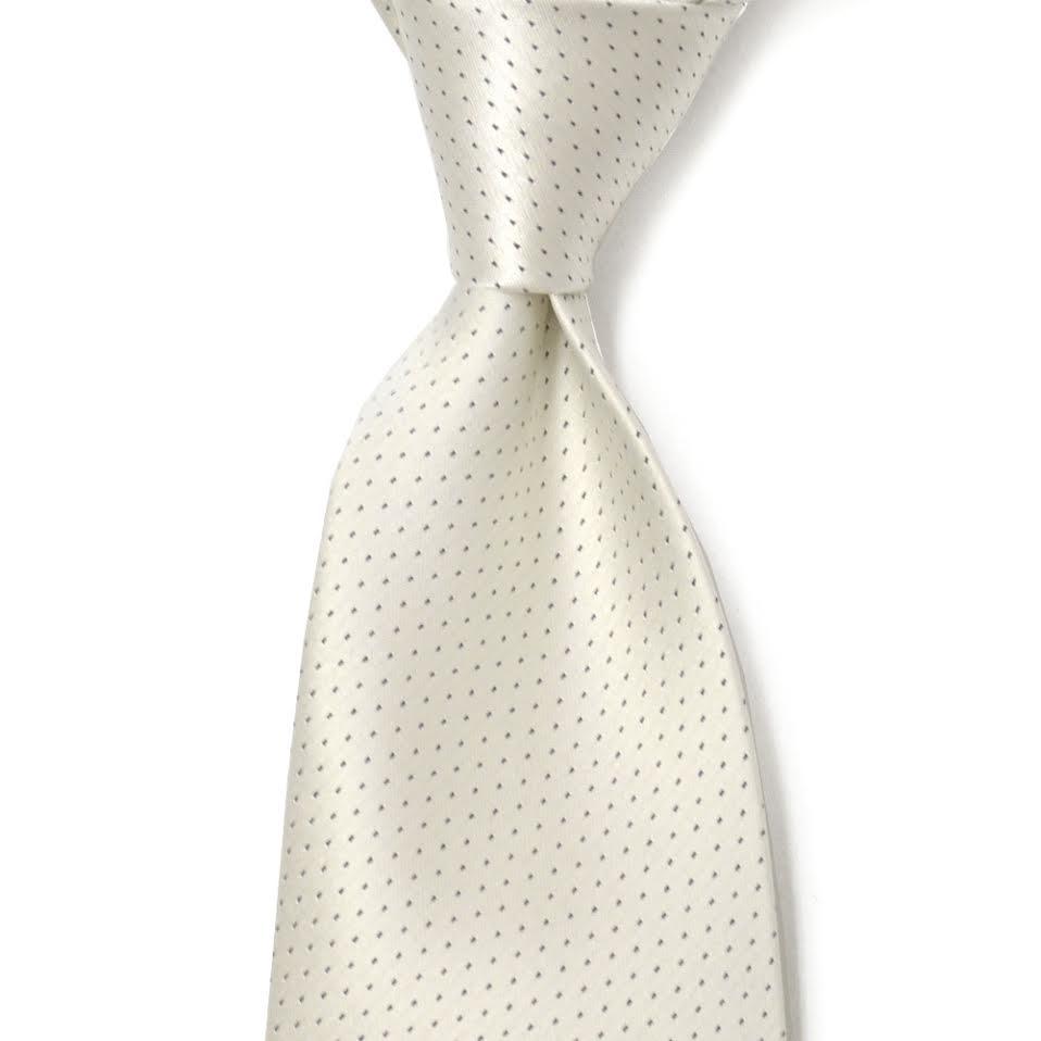 DOLCEPUNTA【ドルチェプンタ】 シルクタイ M24 4 silk pin dot WHITE (シルク ピンドット ホワイト)