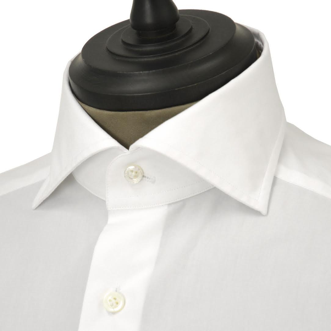 Bagutta【バグッタ】ドレスシャツG386V 00170 001 コットン ポプリン ホワイト
