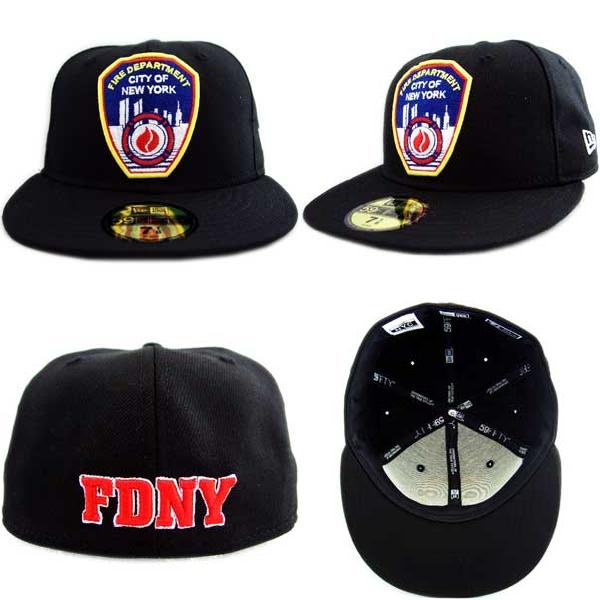 뉴 에러 캡 NYC 커스텀 컬렉션 FDNY 로고 블랙/레드 New Era Cap NYC CUSTOM COLLECTION FDNY LOGO Black/Red