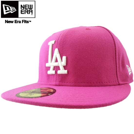 New era Cap white logo Los Angeles Dodgers beetroot Pink   White New Era Cap  White Logo Los Angeles Dodgers Beet Root Pink White 26d1bb102c3