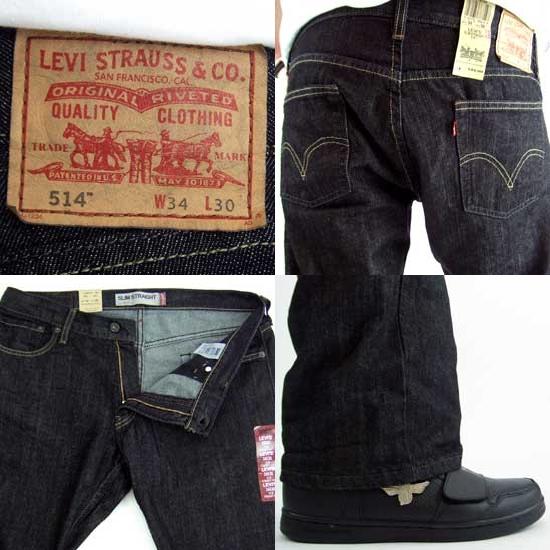 리 바이스 슬림 스트레이트 514 0164 텀블 블랙 Levi 's SLIM STRAIGHT 514 0164 Tumbled Black