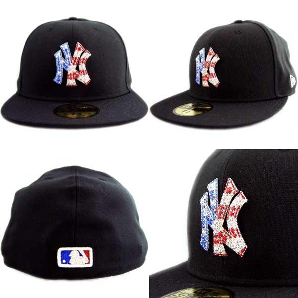 def43843b62 New era Cap iced-up New York Yankees USA 4th black   Swarovski New Era  ICEDUP NY Yankees U S A... Black Swarovski