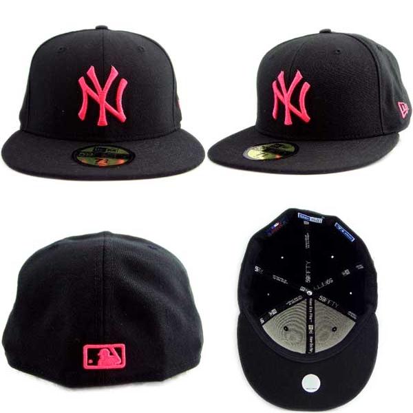 Cio-inc: New Era Cap Pink Logo New York Yankees Black