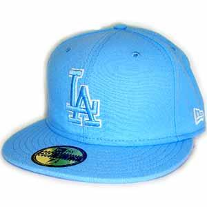 New Era Cap BLUE LOGO L.A Dodgers SkyBlue/SkyBlue/White Frame新埃拉盖子蓝色标识洛杉矶洛杉矶道奇天蓝色/天蓝色/白架子