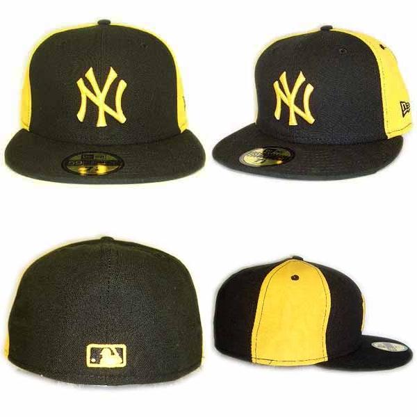 New era Cap doublewormmy New York Yankees Black   Yellow   Yellow New Era  Cap DOUBLE WHAMMY New York Yankees Black Yellow Yellow b82511dbab2