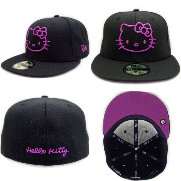 New Era×HELLO KITTY Cap KITTY Black / Purple new era x Hello Kitty Cap Kitty black / purple