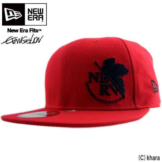 뉴에 라 × 에반게리온 캡 플로레스 르 프 레드/블랙 New Era×EVANGEION Cap FLAWLESS NERV Red/Black