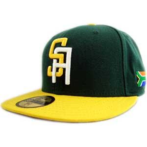SOUTH AFRICA DARK GREEN YELLOW new era Cap W. B. C. South African dark  green   yellow 16dad9ace0c