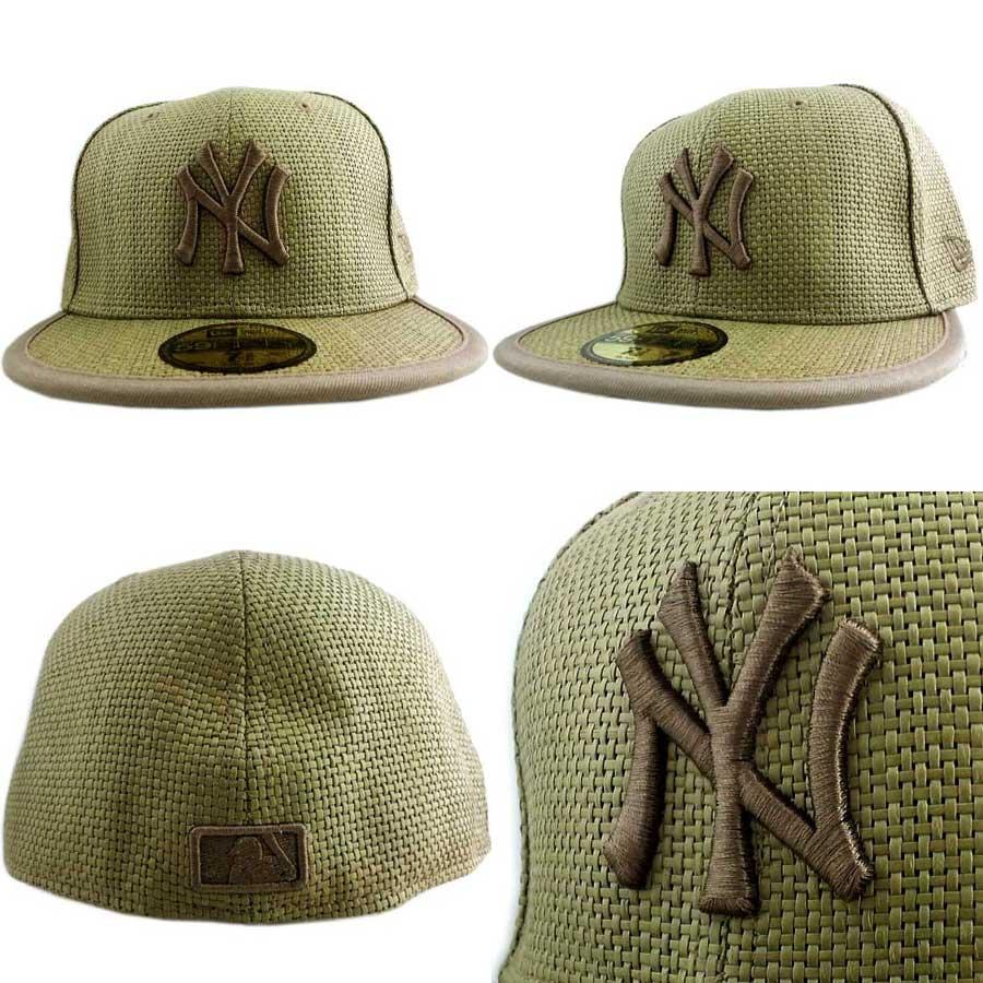 83f3aa23 cio-inc: New Era Cap STRAW New York Yankees Khaki/Khaki new gills ...