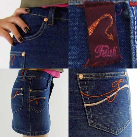 페티쉬 레이디스 데님 미니스커트 Fetish LADIES Denim Mini Skirt