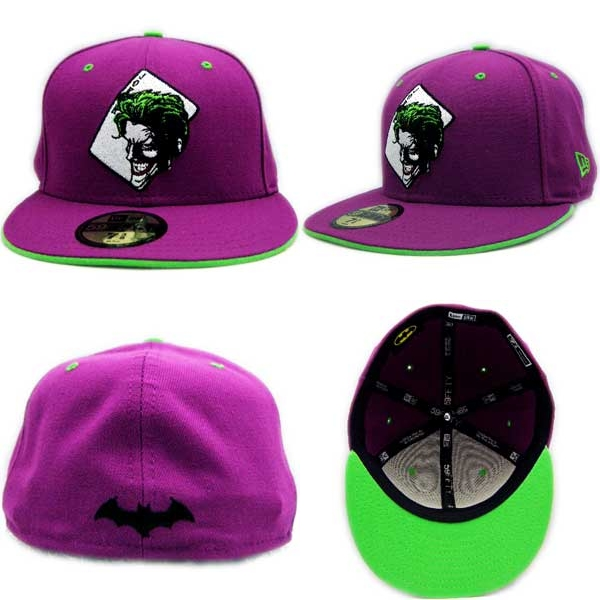 New Era X Batman Cap JOKER TRUMP Purple   Lime new gills X battement cap  joker cards purple   lime f90d458587b