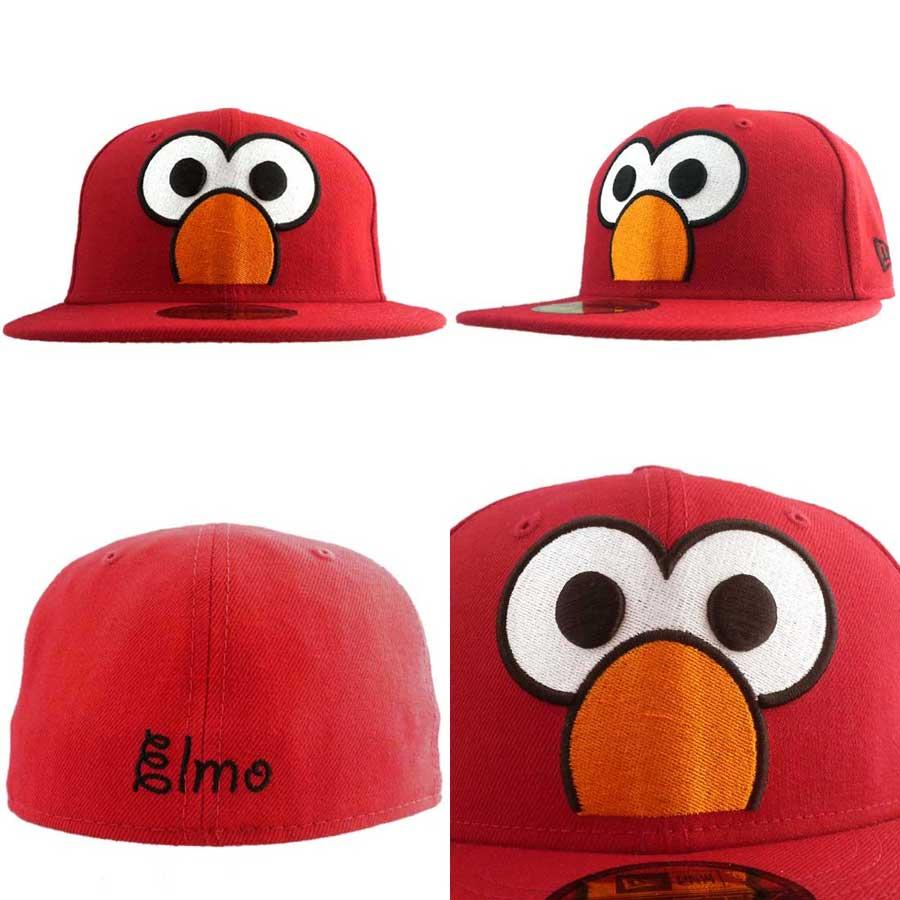New era x Sesame Street caps big face Elmo red New Era×Sesame Street Cap Big Face Elmo Red