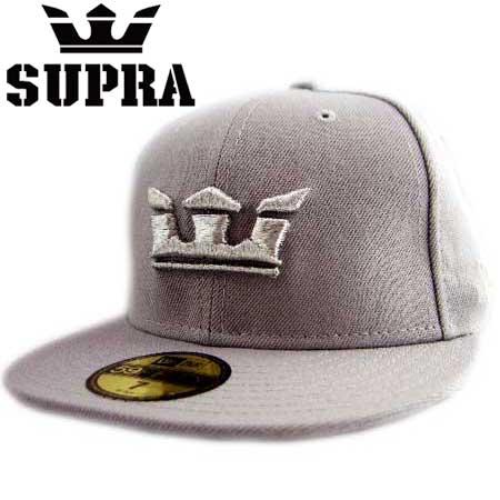뉴 에러×슈프라 캡 실버 로고 글라스 투 그레이 New Era×SUPRA Cap Silver logo Glass 2 Gray