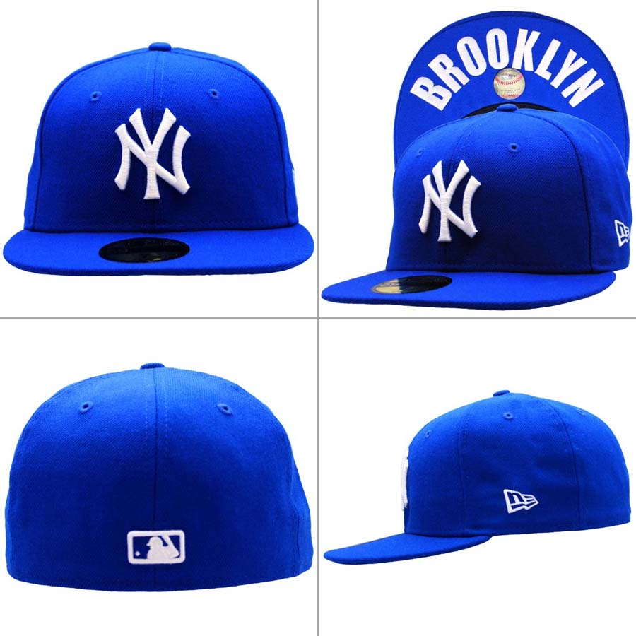 New era Cap under visor New York Yankees Brooklyn Royal blue   white New  Era Cap UNDER VISOR New York Yankees BROOKLYN Blue White 27c489a4cc8