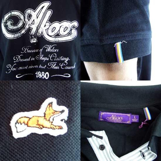 7d7d03c9b cio-inc: AKOO (A King Of Oneself) CROWN S/S POLO Caviar akoo (a King ...
