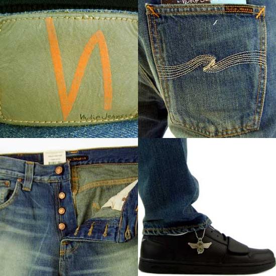 누디진즈빗그벤르즈테이파드렛그오갓니크헤비 110636032 BIG BENGT73 Nudie Jeans Big Bengt Loose Tapered Leg