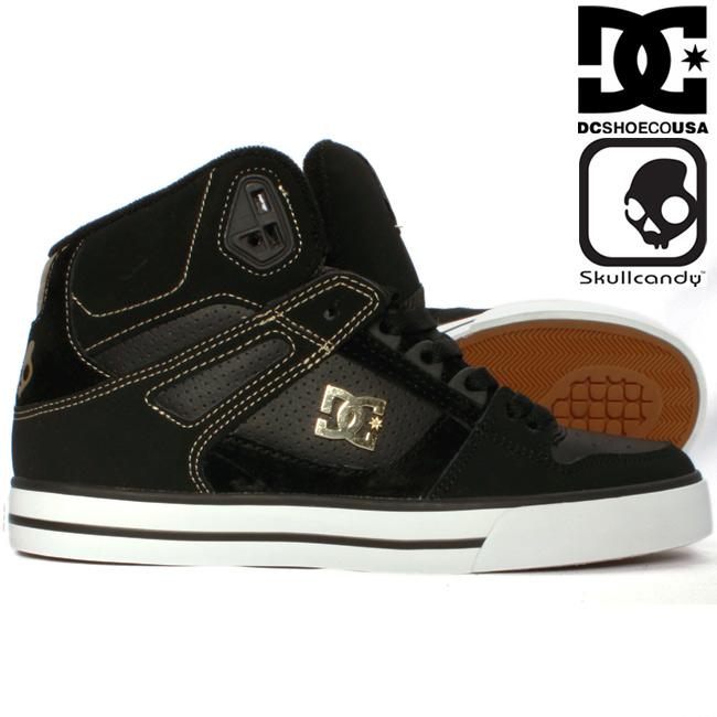 스 컬 캔디 × 디 씨 슈즈 303168 스파 하이 블랙 골드 Skullcandy×DC Shoes 303168 Spartan Hi WC SK Black