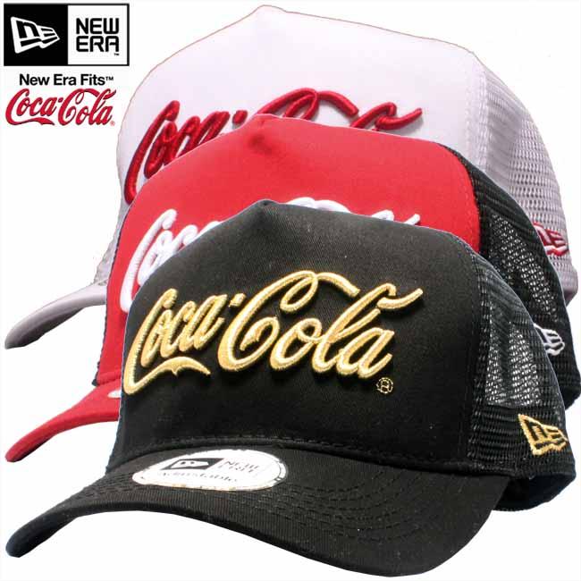 Coca-Cola x new era D frame Tracker mesh Cap drinks 3 colors Coca Cola×New  Era Cap D-FRAME TRUCKER MESH CAP DRINK 3 Colors 9d9e43bab91