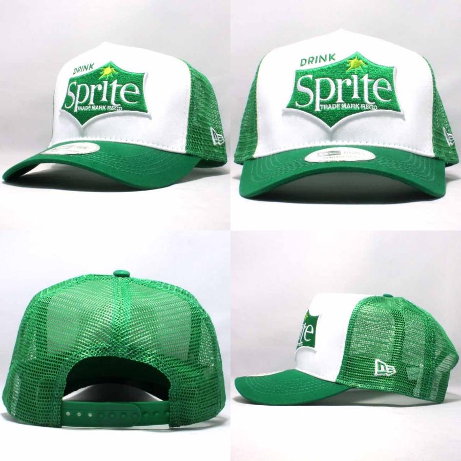 스프라이트×뉴 에러 D후레임트락카멧슈캐프드린크화이트그링린 Sprite×New Era Cap D-FRAME TRUCKER CAP DRINK White Green Green