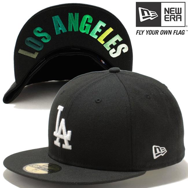 1d782377235 New era Cap 5950 gradient Los Angeles Dodgers Los Angeles black white green  gradient New Era 59FIFTY Cap LA Dodgers LA