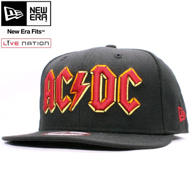 라이브 네이션 * 뉴에 라 950 스냅 백 캡 멀티 로고에이 씨디 씨 블랙 멀티 Live Nation×New Era 950 Adjustable Cap Multi Logo AC/DC