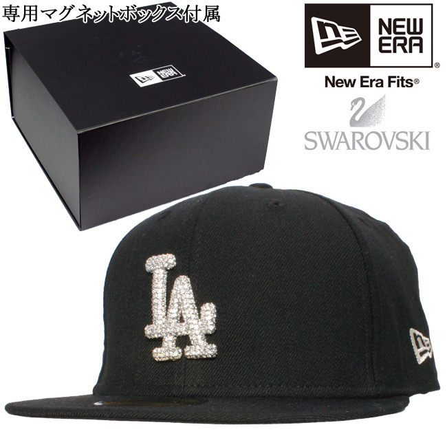 0c01ba9bd Swarovski (R) エレメンツ X new gills 5950 cap Los Angeles Dodgers black clear  stone silver Swarovski(R) Elements X New Era 59FIFTY Los Angeles Dodgers