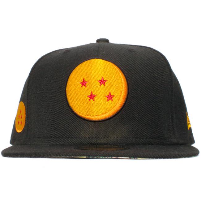 Dragon ball X new gills 5950 cap under visor Ryu God (Hsien Loong) black  multi-merit gold Dragon Ball X New Era 59FIFTY Cap Under Visor Shenron  Black Multi 48de2c46f40