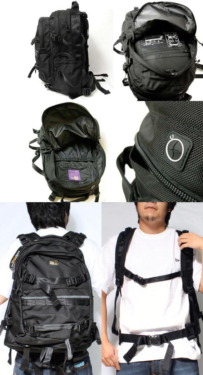 新时代系列 81 尼龙背包黑色反射器帽承运人黑新时代系列 81 尼龙回来包反射器与章载体黑色