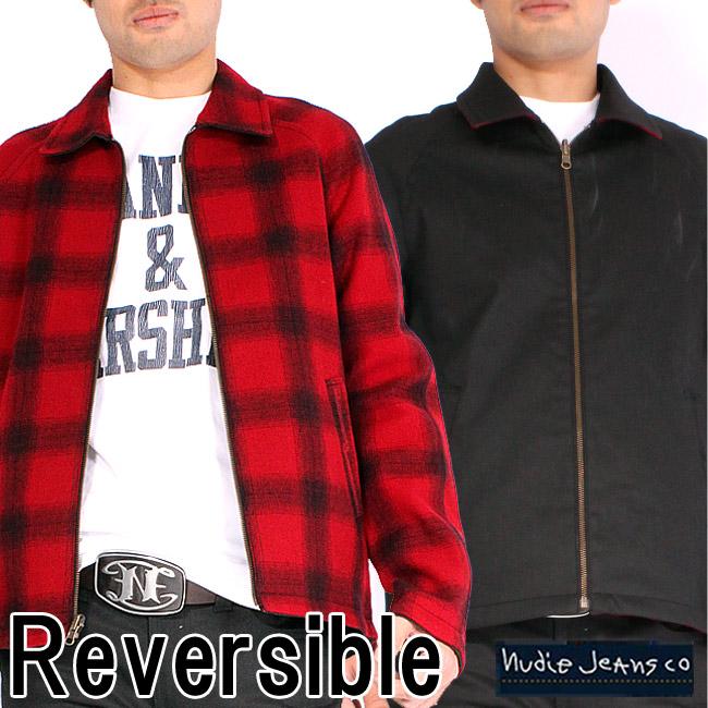 ヌーディージーンズ ジャケット カレ バッファローチェック レッド ブラックNudie Jeans Jacket Kalle Buffalo Check Red Black【あす楽対応_近畿】【あす楽対応_中国】【あす楽対応_四国】【あす楽対応_九州】