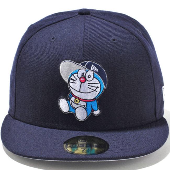 Doraemon x new era 5950 Cap Navy multi grey snow white Doraemon×New Era 59FIFTY Cap Navy Multi Gray (Grey) Snow White