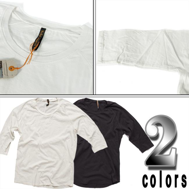 누 디 진 즈 Q/S T-셔츠 쿼터 슬리브 티 오프 화이트 Nudie Jeans Q/S T-Shirt Quarter Sleeve Tee Offwhite