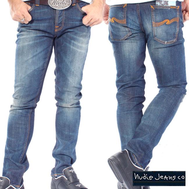 ヌーディージーンズ グリムティム オーガニック ホワイトニー Nudie Jeans Grim Tim Organic White Knee【あす楽対応_近畿】【あす楽対応_中国】【あす楽対応_四国】【あす楽対応_九州】