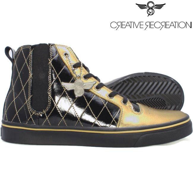 【新品】【送料無料】 アウトレット スニーカー 靴 【訳あり】 【SALE】クリエイティブレクリエーション ポンティ バーニーズスペシャル ブラックパテント ゴールド Creative Recreation Ponti Barney's Special Black Patent Gold【あす楽対応_近畿】【あす楽対応_中国】【あす楽対応_四国】【あす楽対応_九州】