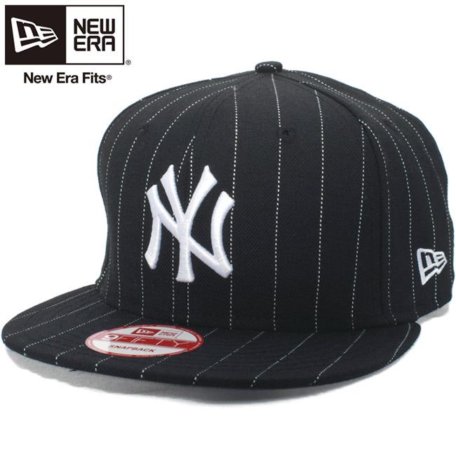 e2d55935 New gills 950 snapback cap New York Yankees black white pin-stripe Snow  white New ...