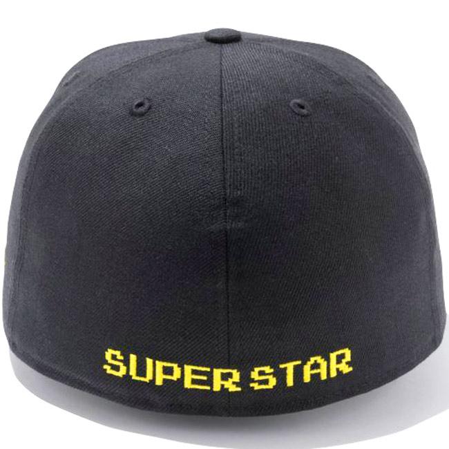 Super Mario Bros.×New Era 59Fifty Cap Super Star Logo Black Ombre Gold