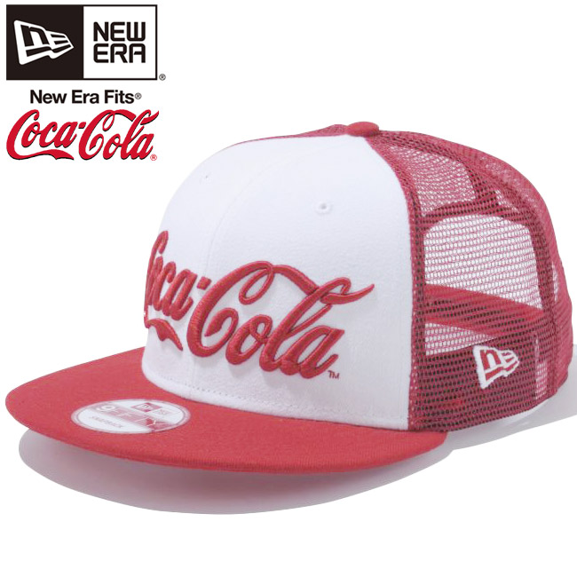 코카콜라×뉴 에러 950 스냅 백 캡 코카콜라 로고 소다 시리즈 메쉬 화이트 레드 메쉬 Coca Cola×New Era 9 Fifty Cap Coca Cola Logo soda series