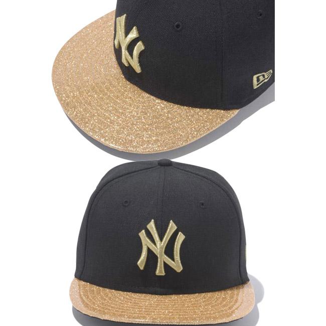 6f103a46fcb ... sweden new era 950 snapback kids caps new york yankees under visor  glitter black gold new