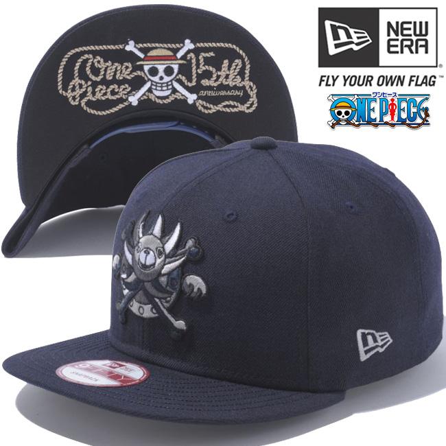 원피스×뉴 에러 950 스냅 백 캡 언더 바이저 멀티 로고 네이비 화이트 ONE PIECE×New Era 9 FIFTY Snap Back Cap Multi Logo Navy